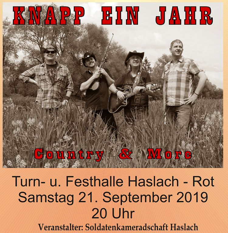 Country- & Linedance Night am 21.09. in Haslach
